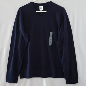 GAP Men's V-Neck Sweater - Navy - M